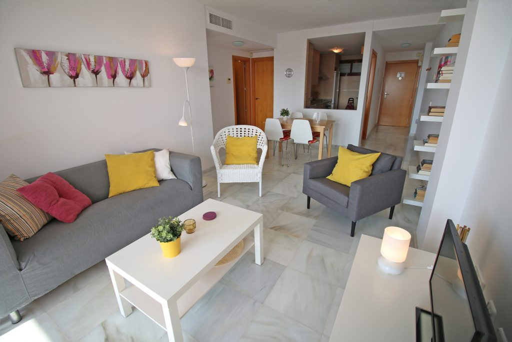 Woonkamer vakantie appartement MDN02 in Nerja
