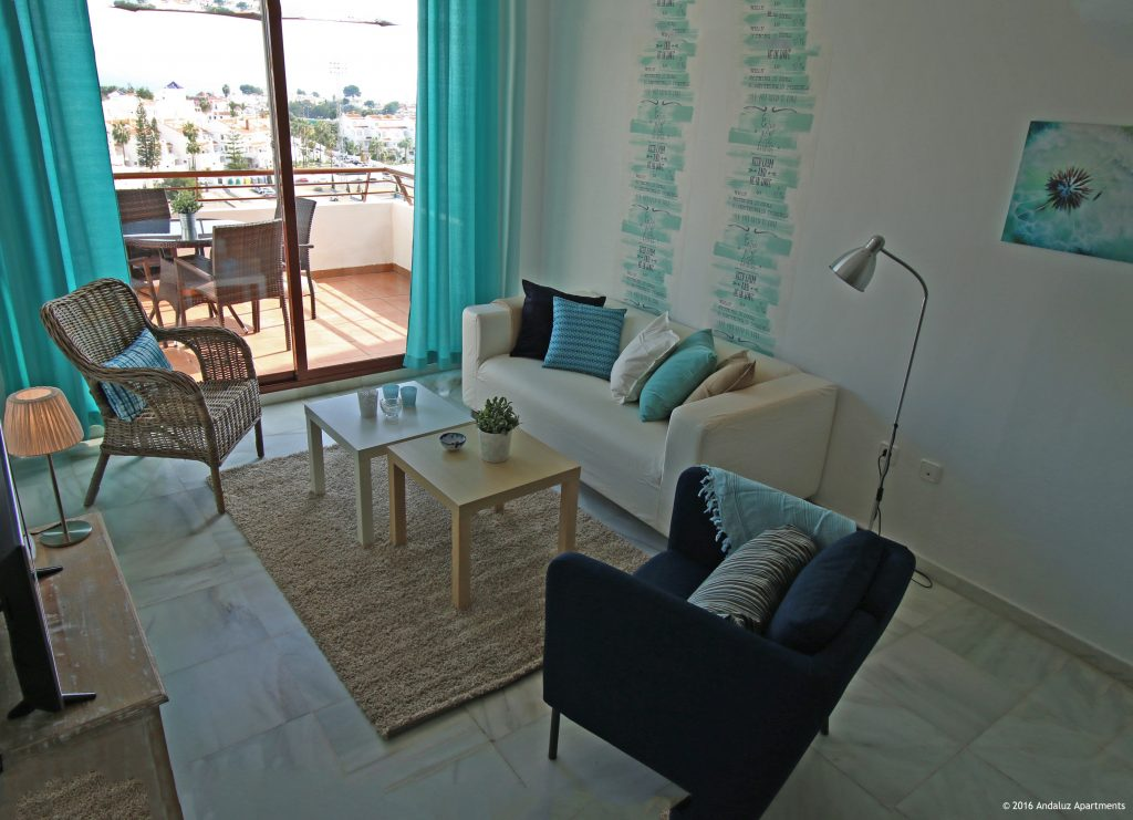 Woonkamer vakantie appartement MDN04 in Nerja