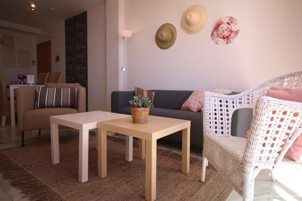 Woonkamer vakantie appartement MDN05 in Nerja