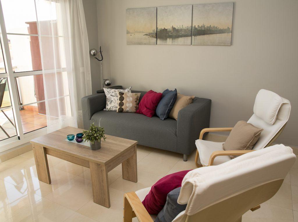 Woonkamer vakantie appartement TOR11 in Nerja