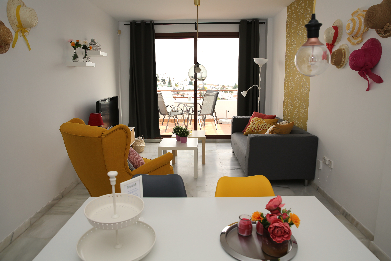 Woonkamer vakantie appartement MDN07 in Nerja